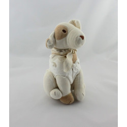 Peluche chien blanc beige MACLAREN