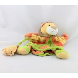 Doudou plat marionnette lion avec bébé DOUDOU ET COMPAGNIE