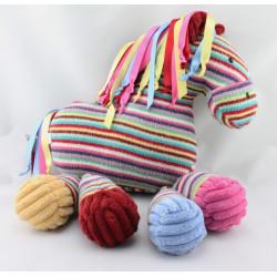 Doudou cheval rayé multicolore JELLY KITTEN JELLYCAT