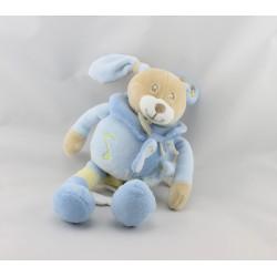 Doudou musical Lapin bleu jaune papillon BABY NAT