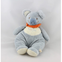 Doudou koala bleu foulard orange NOUKIE'S