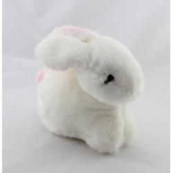 Doudou lapin blanc rose GUIGOZ