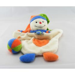 Doudou et compagnie plat clown arlequin avec balle