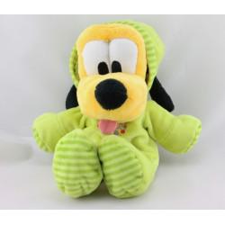 Doudou chien Pluto pyjama vert DISNEY