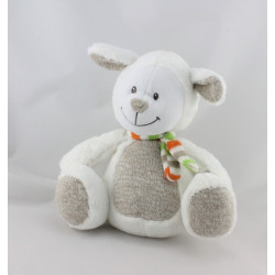 Doudou mouton blanc beige écharpe laine NICOTOY