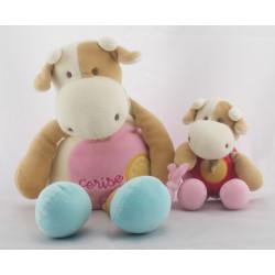 Doudou vache Cerise et son bébé DOUDOU ET COMPAGNIE
