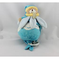 Doudou et compagnie Ma boite à musique collector ours fleur pétale bleu blanctale bleu Tatoo
