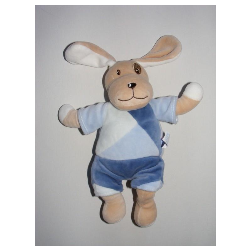 Doudou chien cocard avec mouchoir SUCRE D'ORGE