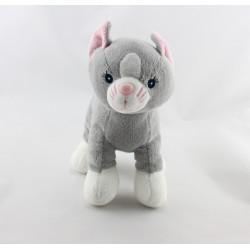 Doudou chat gris blanc GIPSY