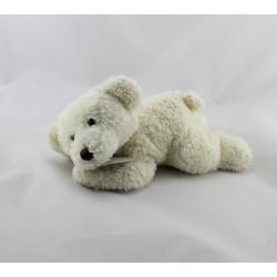 Doudou ours blanc couché Doudou et compagnie
