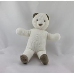 Doudou ours blanc gris LES PETITES MARIE