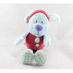 Doudou musical chien rouge bleu TEX BABY