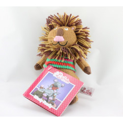 Doudou lion marron laine LATITUDE ENFANT