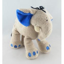 Doudou éléphant beige bleu NICOTOY