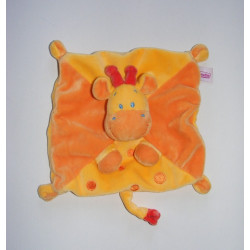 Doudou plat girafe multicolore POMMETTE