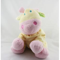 Grand doudou girafe vache jaune rose vert