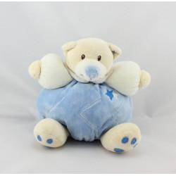 Doudou ours boule bleu étoiles TOODO