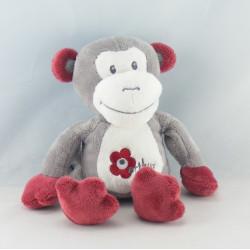 Doudou singe rouge Arthur et Lola BEBISOL