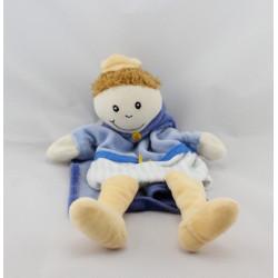 Doudou plat marionnette poupée prince bleu EGMONT TOYS