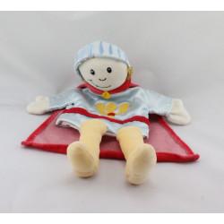 Doudou plat marionnette poupée prince bleu rouge EGMONT TOYS