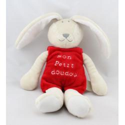 Doudou lapin beige rouge mon petit doudou TAPE A L'OEIL