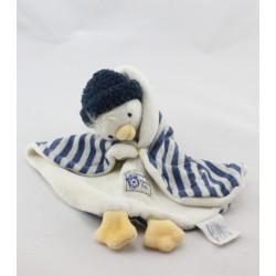 Doudou plat bleu canard Séraphin MOULIN ROTY