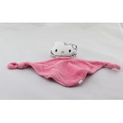 Doudou plat Hello Kitty rose
