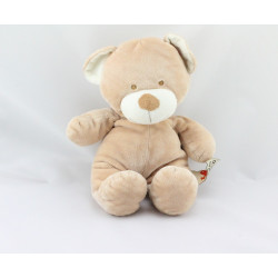 Doudou ours beige blanc NICOTOY