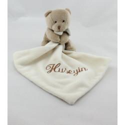 Doudou et compagnie Ours beige mouchoir