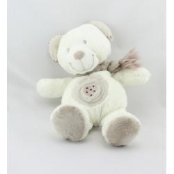 Doudou ours blanc beige Mon Coeur POMMETTE
