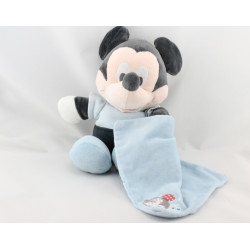 Doudou bébé Mickey bleu avec mouchoir DISNEY NICOTOY