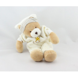 Doudou ours beige pyjama blanc vichy bout'chou BABY NAT