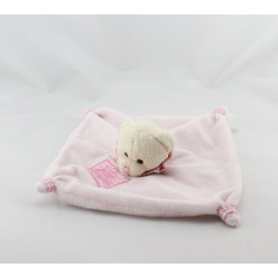 Doudou plat ours rose rayé CP INTERNATIONAL