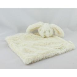 Doudou plat lapin blanc MAMAE NATURAL