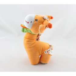 Doudou girafe orange pois NICOTOY