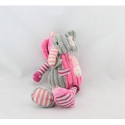 Doudou éléphant gris rose HISTOIRE D'OURS