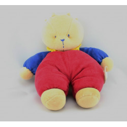 Doudou ours rouge bleu BENGY
