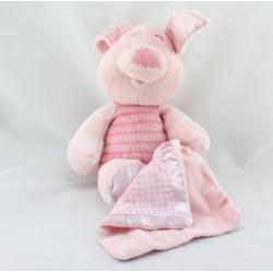 Doudou Porcinet avec mouchoir couverture DISNEY NICOTOY