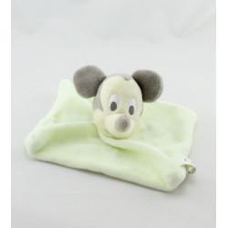 Doudou plat carré Mickey vert DISNEY NICOTOY