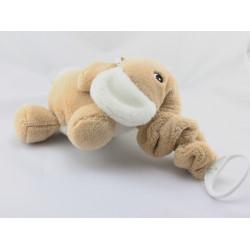 Doudou musical éléphant beige blanc NOUKIE'S