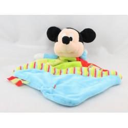 Doudou plat Mickey bleu vert rouge jaune cirque DISNEYEY