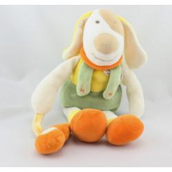 Doudou et compagnie chien Hector vert orange jaune guitare