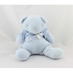 Doudou ours bleu chemise NOUNOURS