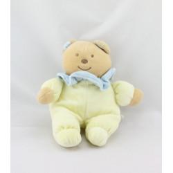 Doudou ours jaune col bleu TEX