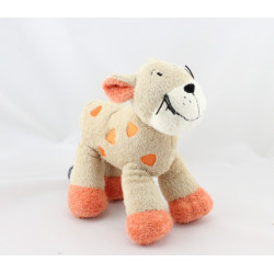 Doudou chat tigre beige orange BABY CLUB