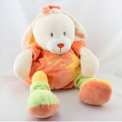 Doudou range pyjama Lapin blanc orange jaune vert BABY NAT