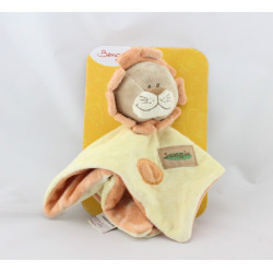 Doudou plat lion jaune orange jungle BENGY