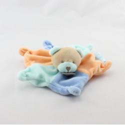 Doudou plat étoile ours bleu orange BABY NAT