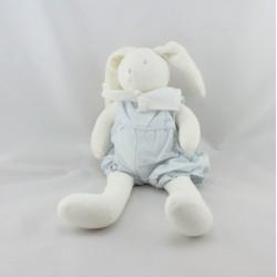 Doudou lapin blanc rayé bleu MOULIN ROTY