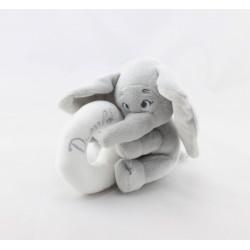 Doudou hochet éléphant gris Dumbo anneau blanc DISNEY BABY